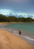 Kvinna på den Kihei stranden Fotografering för Bildbyråer
