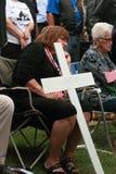 Kvinna på räddningen som vårt kors samlar, Knoxville, Iowa Royaltyfria Foton