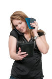 Kvinna på ringa Fotografering för Bildbyråer