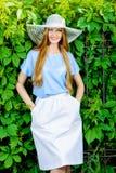 Kvinna på semester Royaltyfria Foton