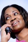 Kvinna på telefonen royaltyfria foton