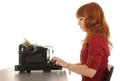 Kvinna på kontoret Arkivbild