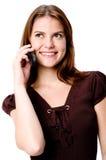 Kvinna på telefonen Royaltyfria Bilder