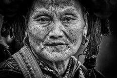 Kvinna Sapa Arkivbild