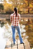 Kvinna sjöpir Royaltyfri Bild