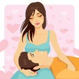 Kvinna som älskar mannen Royaltyfria Bilder