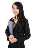 Kvinna som bär en mapp Arkivfoton