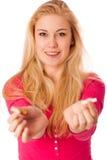 Kvinna som bryter cigaretten som en gest av avslutning som röker, avbrott Arkivbild