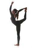 Kvinna som dansar acrobatical dans Arkivfoto