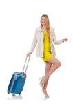 Kvinna som förbereder sig för semester Royaltyfri Foto