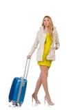 Kvinna som förbereder sig för semester Royaltyfria Foton