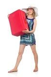 Kvinna som förbereder sig för sommarsemester Royaltyfria Foton