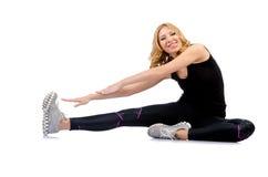 Kvinna som gör sportar Royaltyfria Foton
