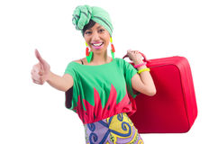 Kvinna som är klar för sommarferie Royaltyfri Foto
