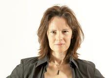 Kvinna som ser direkt Fotografering för Bildbyråer