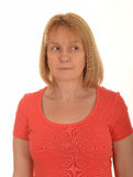 Kvinna som ser till sidan Royaltyfria Bilder