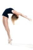 Kvinna som utför en dans Arkivbilder