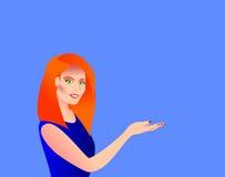 Kvinna som visar Arkivfoto