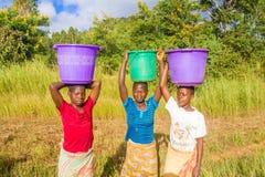 Kvinna tre i Malawi Royaltyfria Bilder