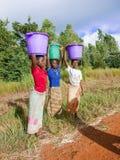 Kvinna tre i Malawi Arkivbilder