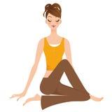 Kvinna yoga Arkivbilder