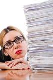 Kvinnaaffärskvinna Arkivfoton