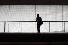 Kvinnaanseende i modern inre Fotografering för Bildbyråer