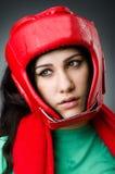 Kvinnaboxare Royaltyfri Fotografi
