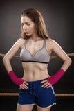Kvinnaboxare Royaltyfria Foton