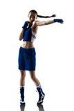 Kvinnaboxareboxning Fotografering för Bildbyråer