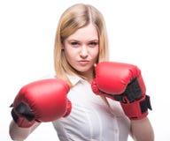 Kvinnaboxning Arkivfoton