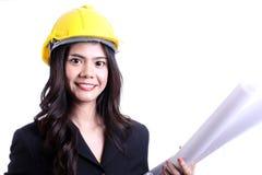 Kvinnabyggnadsarbetare Arkivbilder