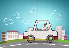 Kvinnachaufför Arkivfoto