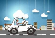 Kvinnachaufför Arkivbild