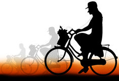 Kvinnacyklister Royaltyfri Foto
