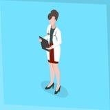 Kvinnadoktor för medicinsk personal Arkivbilder