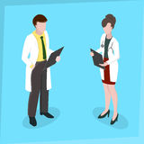 Kvinnadoktor för medicinsk personal Arkivbild