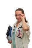 Kvinnadoktor på arbete royaltyfria foton