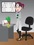 Kvinnadoktor på Hospital/illustrationen Royaltyfria Bilder