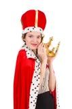 Kvinnadrottning Royaltyfria Bilder