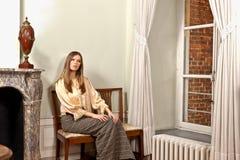 Kvinnafönsterslott Royaltyfri Fotografi