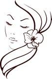 Kvinnaframsida Royaltyfria Bilder
