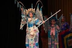 """Kvinnageneraler för Mu Guiying-Peking Opera"""" av Yang Familyâ € arkivfoto"""