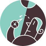 Kvinnaholdingkompass Vektor Illustrationer