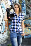 Kvinnajournalist Royaltyfri Fotografi