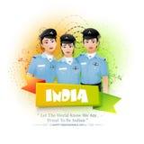Kvinnakämpepiloter för indisk självständighetsdagen Arkivfoto