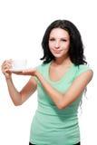 Kvinnakaffekopp arkivfoto