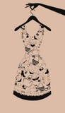 Kvinnaklänning från tillbehör. Arkivfoton