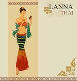 Kvinnaklänning Thailand Royaltyfri Foto