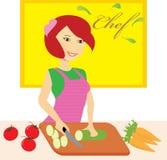 Kvinnakock Cooking Royaltyfri Fotografi